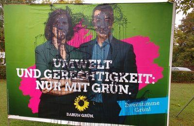 Vandalen zerstörten Wahlplakate in Veitshöchheim
