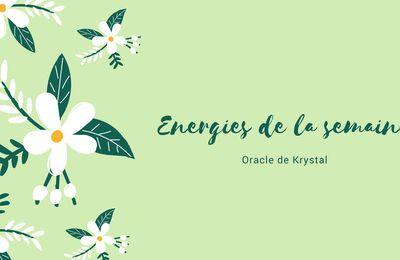 Energies du 24 au 30 juillet 2017 Cartes Oracle de Krystal