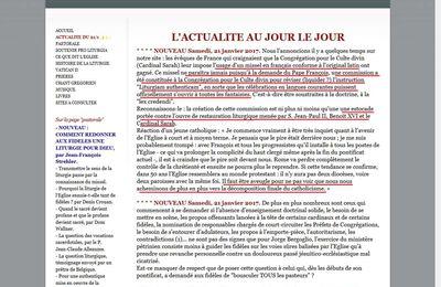 Le missel en français conforme à l'original latin ne paraîtra pas, l'universalisme de l'Eglise séloigne un peu plus