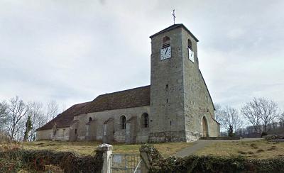 L'église Saint-André à Mirebel (39570)