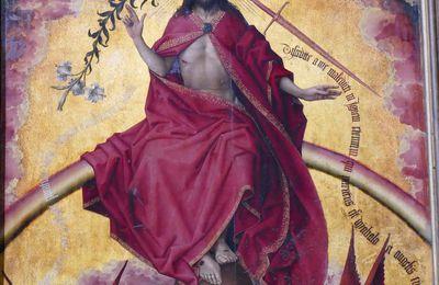 """Le polyptyque du Jugement Dernier (1445-1450) de Rogier van der Weyden aux Hospices de Beaune """"à la loupe"""".  III. Les inscriptions."""