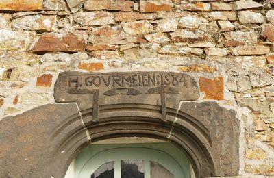 Une inscription lapidaire d'un tailleur de pierre à Telgruc : H : GOVRMELEN : 1584.