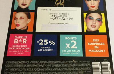 Sephora : Soirée Gold de mars 2017