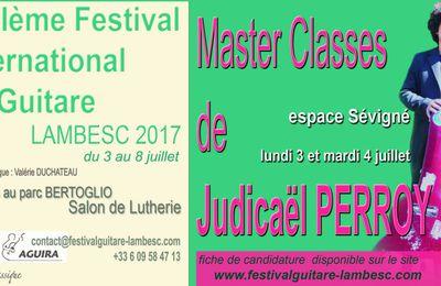 Master classes de Judicaël PERROY