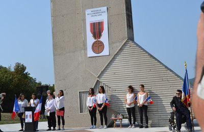 Commémoration du 73éme anniversaire de la Libération de la Drôme au Mémorial de la Résistance à Mirmande. septembre 2017