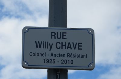 Valence, Inauguration rue Colonel Willy CHAVE, Grand Officier de la Légion d'Honneur, Résistant FFI. septembre 2017