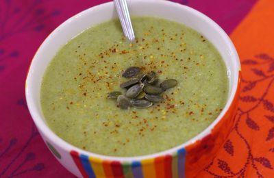 Soupe poire et brocolis