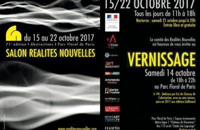 Réalités Nouvelles,  71eme édition du Salon de l'abstraction