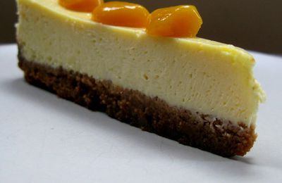 Cheesecake, confit fruits exotiques
