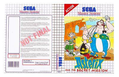 Maquette Jeu Asterix (SEGA, 1991)