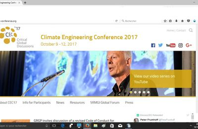 Conférence sur l'ingénierie climatique à Berlin du 9 au 13 octobre 2017