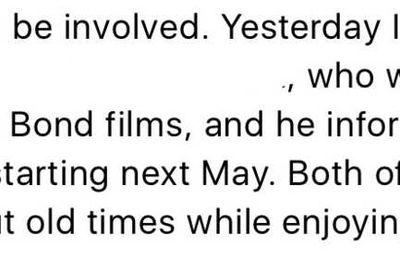 Bond 25 : la production commencerait en mai