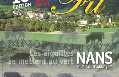 Nans sous Sainte-Anne, 10e salon d'art du fil  : demandez  le programme !