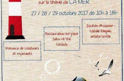 Exposition de broderie : la mer à Laplume : 27 au 29 octobre 2017