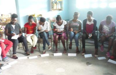 """Formation de jeunes issus de """"KIRO"""" :""""KIRO"""" c'esr un Mouvement de Jeunesse en Haïti qui agit dans et pour les Communautés."""
