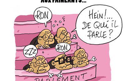 Macron s'en prend aux fainéants...
