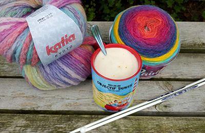 Nouveautés tricot : Laines Rainbow Katia et aiguilles clipsables Prym Ergonomics