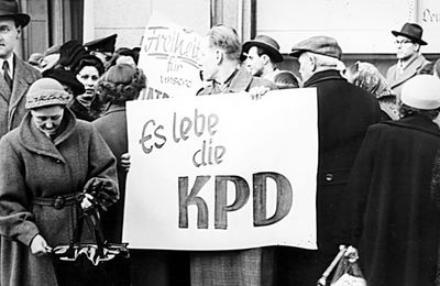 Aout 1956 interdiction du PC Allemand (KPD)