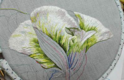 Peinture à l'aiguille réalisée par Lionelle