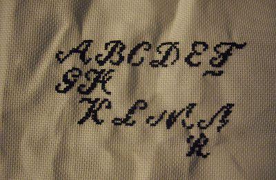le tricot (1) défi broderie
