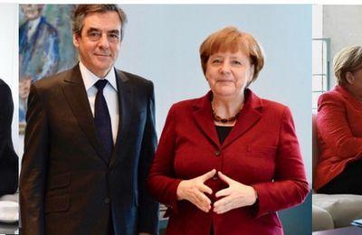 FILLON, MACRON, HAMON : ils font tous la queue à Berlin pour faire bénir leur candidature par Angela MERKEL !