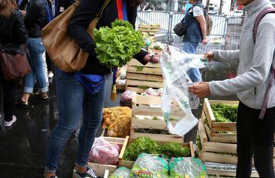 VENTE SOLIDAIRE fruits et légumes:  jeudi 17 août 2017 place de la Bastille à Paris et dans plusieurs villes d'Ile-de-France