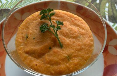 panna cotta de carottes curry à l'agar agar