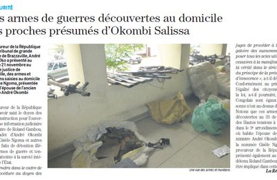 CONGO/MINISTERE DE L'INJUSTICE : ON S'ATTENDAIT A L'ATTAQUE GROTESQUE CONTRE ANDRE OKOMBI SALISSA