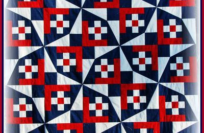"""Quilts of Valor"": premier patchwork presque terminé..."