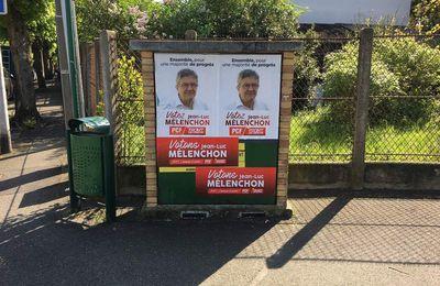 Quand les colleurs d'affiches politiques salissent Aulnay-sous-Bois