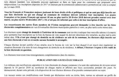 Révision des Listes Electorales 2017