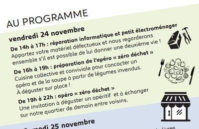 Semaine européenne de la réduction des déchets - 24 et 25 novembre au Ressort aux Dervallières à Nantes