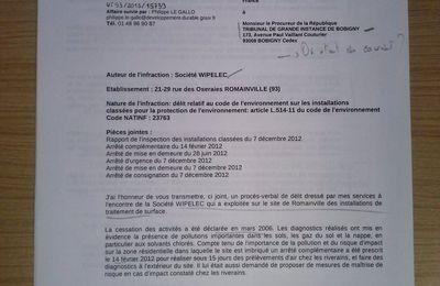 Pollutions Wipelec - La justice sur les talons depuis depuis 2012...