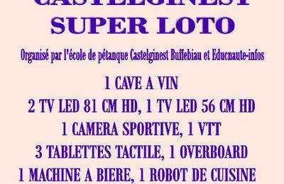 EDUCNAUTE-INFOS organise ses deux SUPERLOTOS avec l'école de Pétanque de BUFFEBIAU à CASTELGINEST