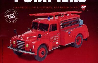 Camion citerne d'incendie Citroën 46 CD Trouville au 1/43 (Hachette/Ixo)