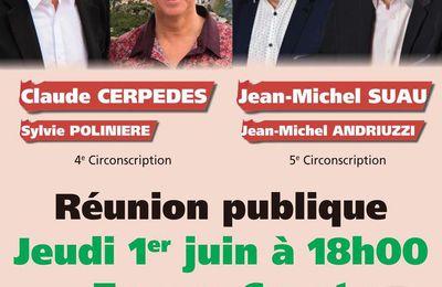 REUNION PUBLIQUE DES CANDIDATS SOUTENUS PAR LE PCF A ALES