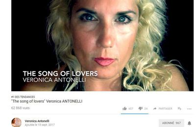 """The song of lovers"" Veronica ANTONELLI N°1 in Canada"