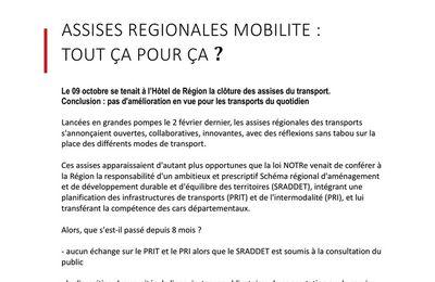 Clôture des assises régionales du transport : le communiqué de l'association d'usagers NOSTERPACA  ...