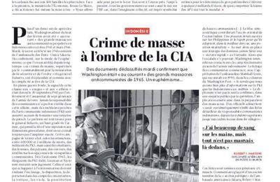 Indonésie: 1965-1966: crime de masse à l'ombre de la CIA (L'Humanité, 19 octobre 2017 - Rosa Moussaoui)