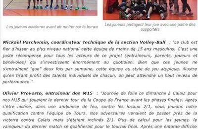 Les moins de 15 ans de l'AS Villebon Volley-Ball parmi les 8 meilleures équipes françaises