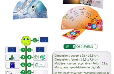 Eventails en carton recyclable avec une impression quadri recto verso - GO50-EVEN3