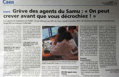 CAEN: Grève des agents du Samu