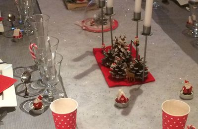 Variante table de Noël 2016 Rouge et Blanc
