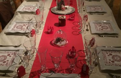 Table Noël 2017  rouge et blanc