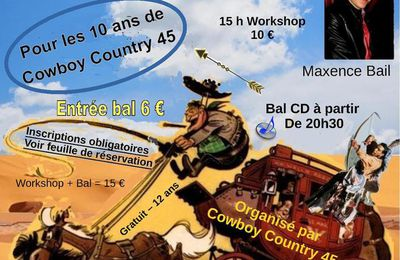 Bal country et Workshop le 24 mars 2018 à Nogent sur Vernisson