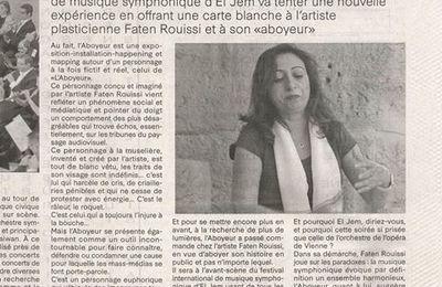 L'Aboyeur de Faten Rouissi à l'Amphithéâtre d'El Jem, Tunisie: On en parle!