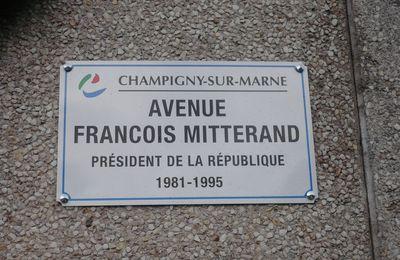 François Mitterrand à Champigny sur Marne : il est bien connu que les noms propres n'ont pas d'orthographe...