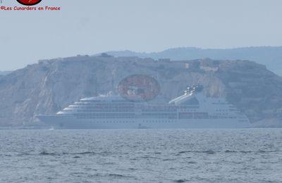 Départ du Seabourn Odyssey à Marseille le 30/05/17.