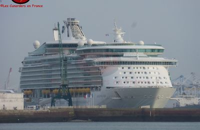Départ du Navigator of the Seas au Havre le 15/10/17.