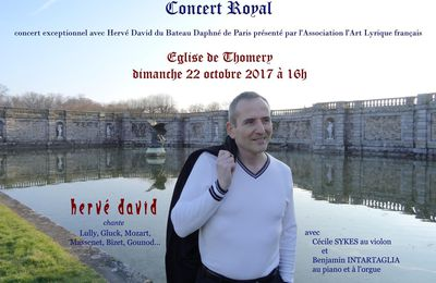 Hervé David chante à Thomery